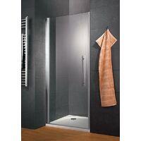 Porte de douche pivotante 100 x 190 cm, verre 6 mm anticalcaire, profilé aspect chromé, Style, Schulte