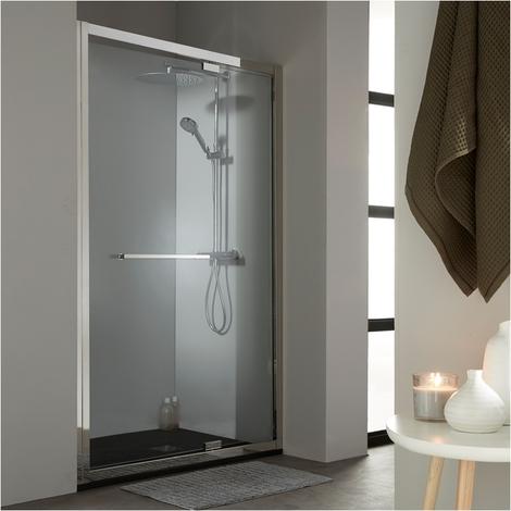 Porte de douche pivotante 120 cm tout inox chromé