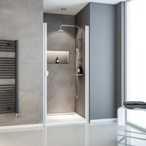 Porte de douche pivotante, 80 x 180 cm, verre transparent 5 mm, Schulte Sunny, profil� aux choix