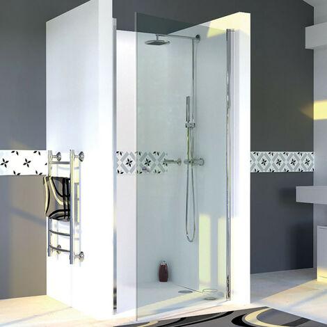 Porte de douche pivotante DYLANE sans cadre 80 cm - 6mm