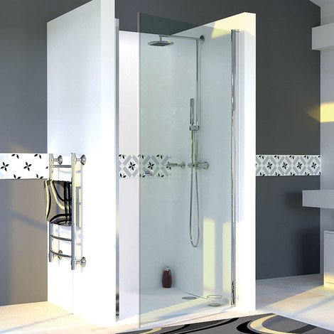 Porte de douche pivotante DYLANE sans cadre 90 cm - 6mm