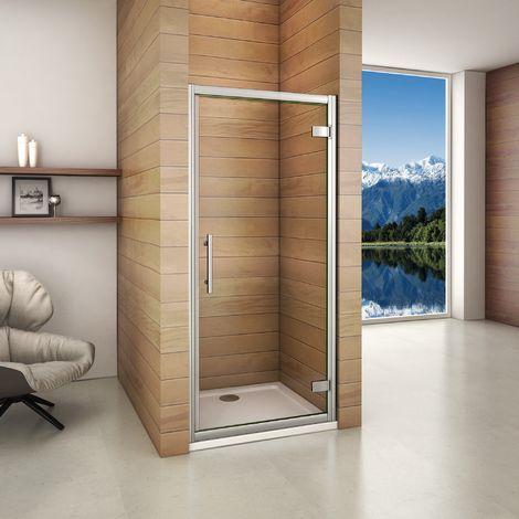 Porte de douche pivotante en 187cm avec 3 différents largeurs