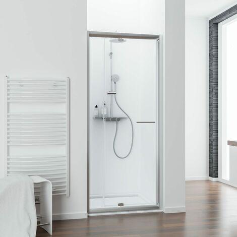 Porte de douche pivotante extensible, verre 5 mm, Vita, Schulte, différents modèles au choix
