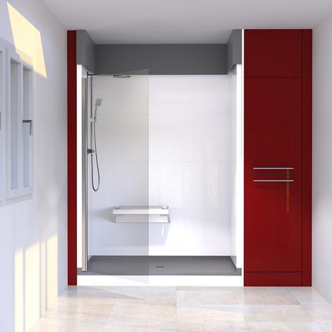 Porte de douche pivotante MERLYNE sans cadre 100 cm - 8mm