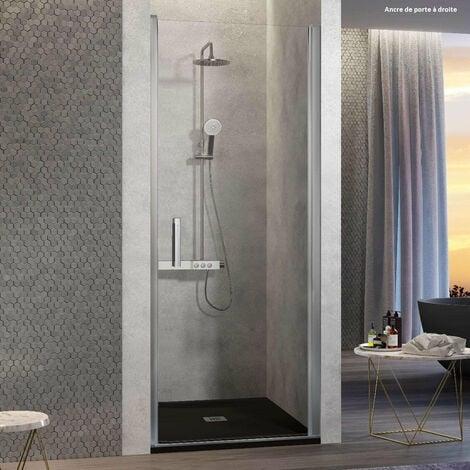 Porte de douche pivotante NARDI 55-59 cm ancre de porte à Droite