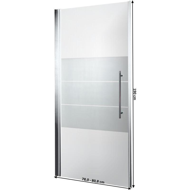 Porte De Douche Pivotante Style 80 X 190 Cm Verre Dépoli Light Anti Calcaire Profilés En Optique Chromé Schulte