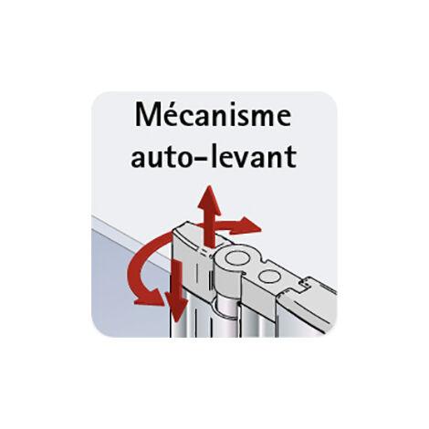 Porte de douche pivotante sur paroi fixe, Style 2.0, 100 x 192 cm, anti-calcaire, Schulte, transparent