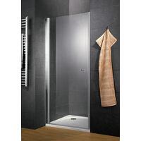 Porte de douche pivotante, verre 5 mm anticalcaire, profilé aspect chromé, Style, Schulte, 80 x 185 cm