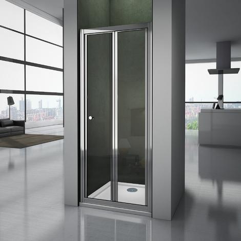 Porte de douche pliante 80-100x185cm 4mm verre trempé