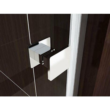 Porte de douche pliante en verre de sécurité transparent