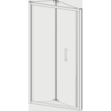 Porte de douche pliante S300 70 cm Sans paroi latérale
