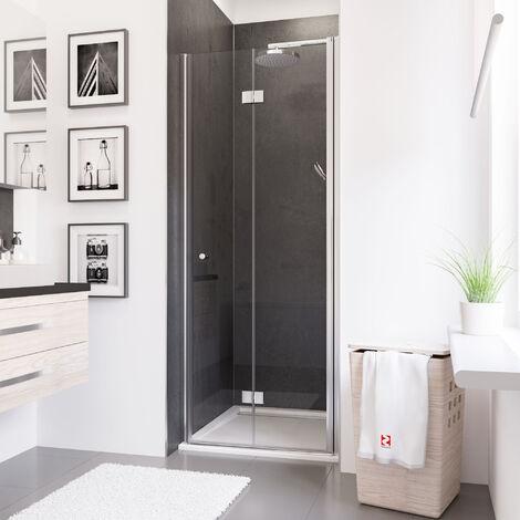 Porte de douche pliante, verre 5 mm anticalcaire, Style 2.0, Schulte, 4 modèles au choix