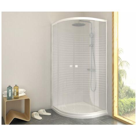 Porte de douche quart de cercle Laia - 80 x 80 cm