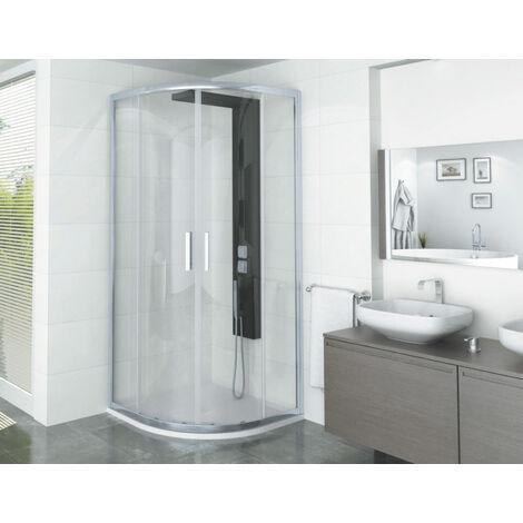 Porte de douche quart de cercle Manhattan
