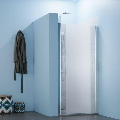 Porte de douche sablée pivotante SANDY sans cadre 100 cm - 6mm