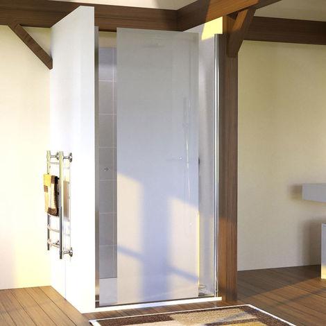 Porte de douche sablée pivotante SANDY sans cadre 90 cm - 6mm