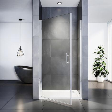 Porte de Douche丨Porte pivotante丨Paroi de douche extensible丨Verre 6 mm丨Joint de bas étanche,SIRHONA