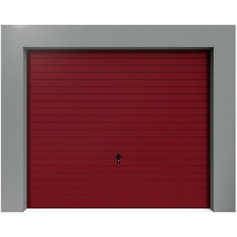 Porte de Garage Basculante à Rainures Horizontales