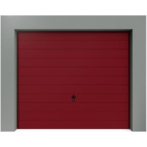 Porte de Garage Basculante à Rainures Horizontales larges