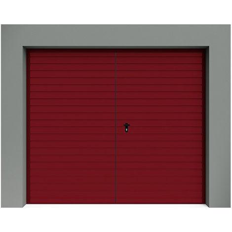 Porte de Garage Battante à Rainures horizontales