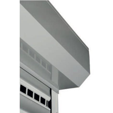 Porte De Garage Enroulable Alu GRIS RAL7016 L3m x H3m Lame de 77 2 télécommandes et palpeur radio prête à poser Fabriqué En Fran