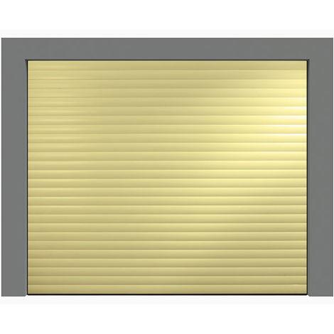 Porte de garage enroulable beige 1015 240x200 cm lames 77mm