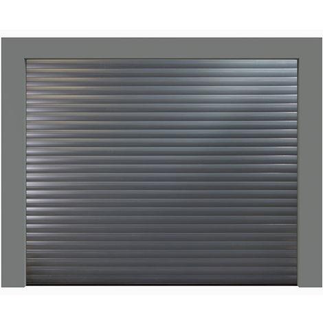 Porte de garage enroulable grise anthracite 7016 240x200 cm lames 77mm