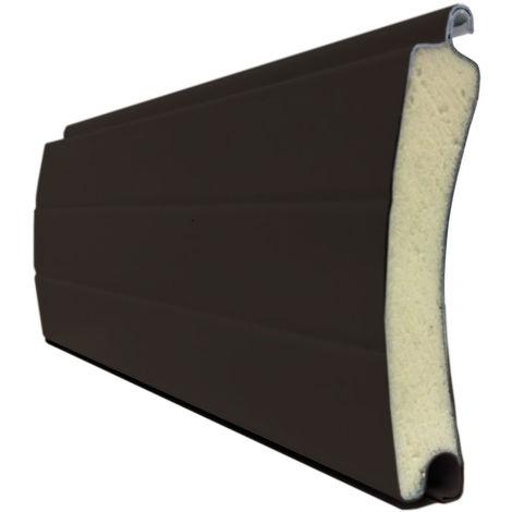 Porte de garage enroulable marron foncé 240x200 cm lames 77mm