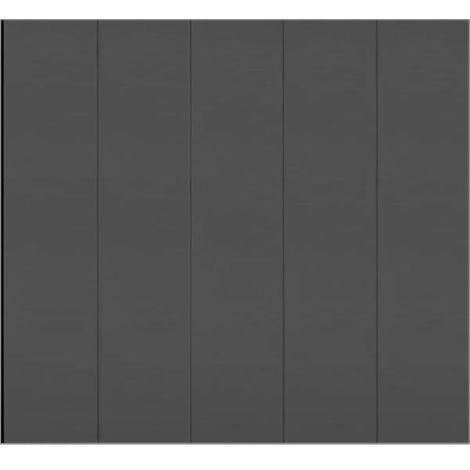 Porte de garage latérale lisse grise anthracite 7016 240x200 cm