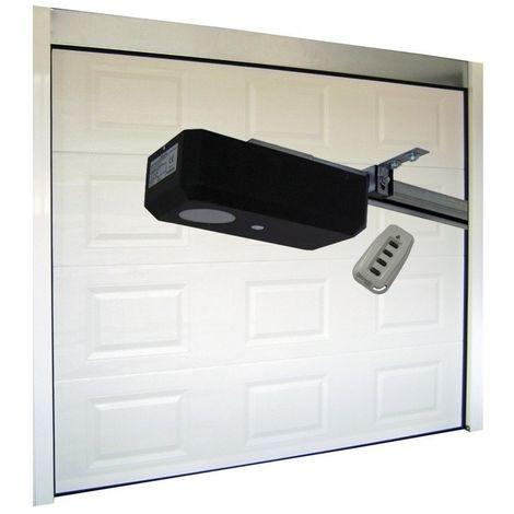 Porte de Garage Sectionnelle 40 mm 2400 x 2000 mm Cassette - Couleur : Blanc -plusieurs largeurs disponibles