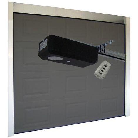 Porte de Garage Sectionnelle 40 mm 2400 x 2000 mm Cassette - Couleur : Gris - Plusieurs largeurs disponibles
