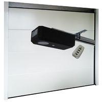 Porte de Garage Sectionnelle 40 mm 2400 x 2000 mm Lisse - Couleur : Blanc -plusieurs largeurs disponibles