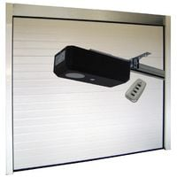 Porte de Garage Sectionnelle 40 mm 2400 x 2000 mm Nervurée - Couleur : Blanc -plusieurs largeurs disponibles