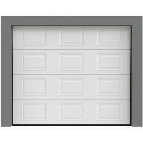 Porte de garage sectionnelle à cassette 240x200 cm
