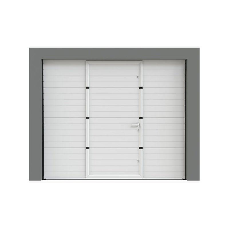 Porte De Garage Sectionnelle A Cassettes 240x200 Cm Avec Portillon Integre Neo10 0006