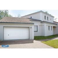 Porte de garage sectionnelle ISO 45 kit motorisée - Novoferm - Nervures larges - Finition Woodgrain - 2375x2000mm