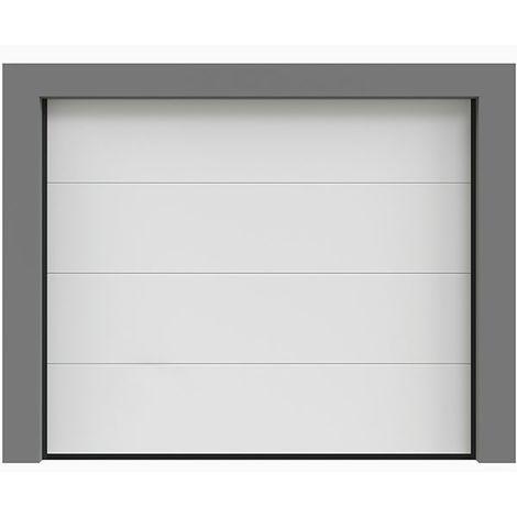 Porte de garage sectionnelle lisse 240x200 cm