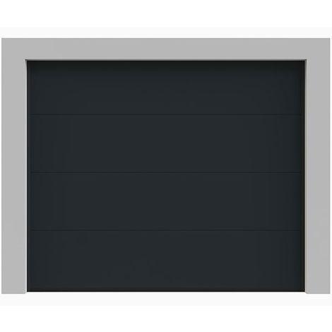 Porte de garage sectionnelle lisse grise 240x200 cm anthracite 7016