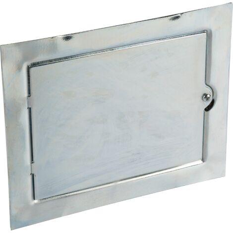 Porte de ramonage Jardinier Massard - Galvanisé - Dimensions 21 x 17 cm
