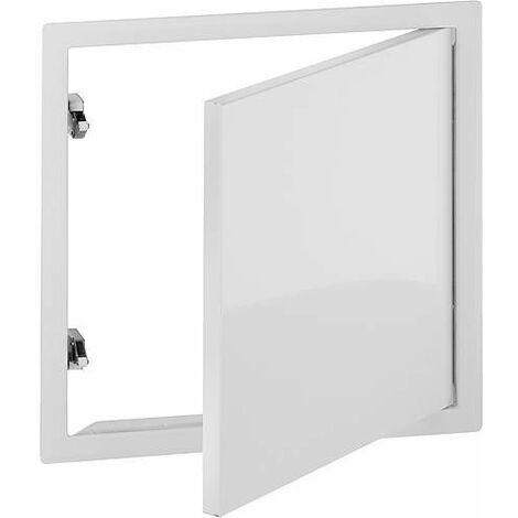 Porte de révision 300x300 mm RAL9016 avec 2 fermetures à enclenchement