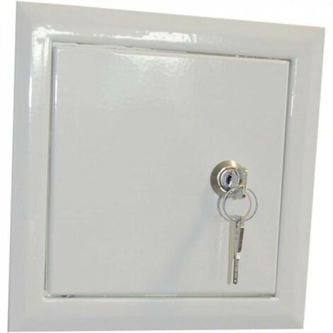 Porte de révision de cheminée avec clé 20x25cm dr