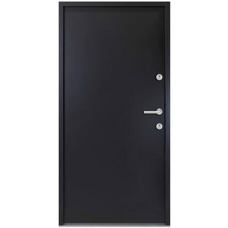 Porte d'entrée Aluminium Anthracite 90x200 cm