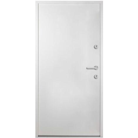 Porte d'entrée Aluminium Blanc 100x200 cm