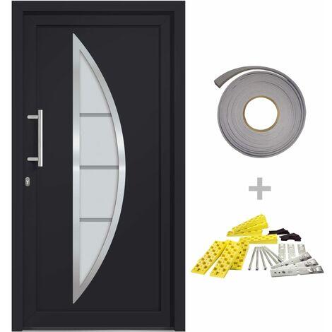 Porte d'entrée Anthracite 98x200 cm