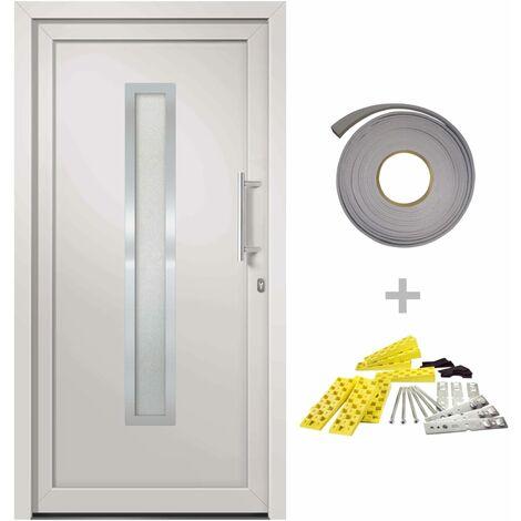 Porte d'entrée Blanc 108x208 cm