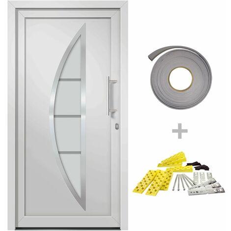 Porte d'entrée Blanc 98x190 cm