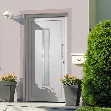 Porte d'entrée Blanc 98x200 cm