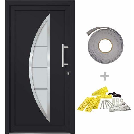 Porte d'entrée principale Anthracite 98x208 cm