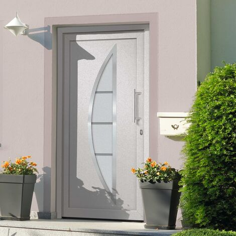 Porte d'entrée principale Blanc 108x200 cm