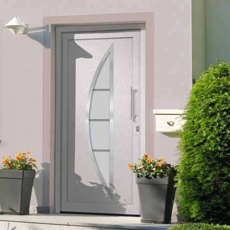 Porte d'entrée principale Blanc 108x208 cm